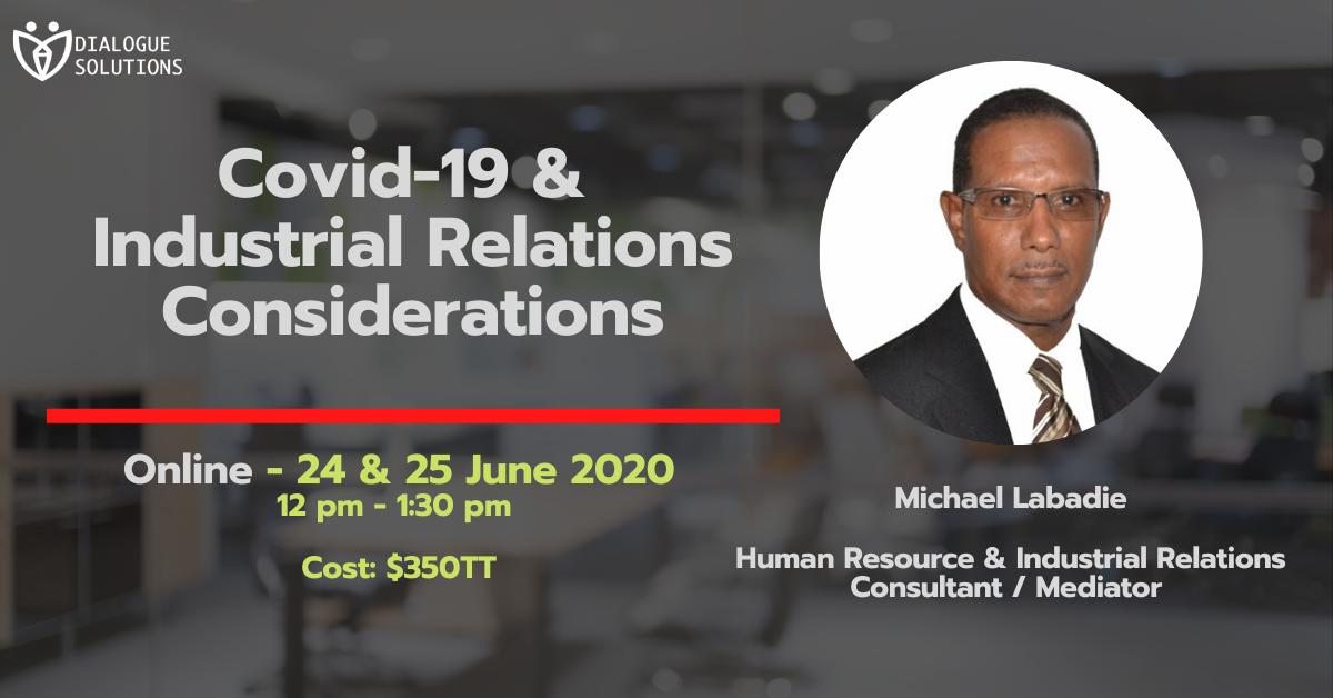 Michael Labadie Webinar Industrial Relations